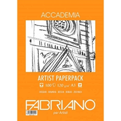 Fabriano Accademia Artists Paperpack Natural Grain 120gr A3 (29.7x42cm) 100 Sayfa
