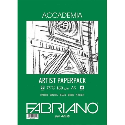 Fabriano Accademia Artists Paperpack Natural Grain 160gr A3 (29.7x42cm) 75 Sayfa