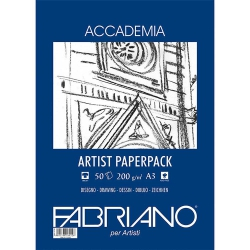 Fabriano Accademia Artists Paperpack Natural Grain 200gr A3 (29.7x42cm) 50 Sayfa