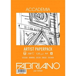 Fabriano Accademia Artists Paperpack Natural Grain 120gr A4 (21x29.7cm) 200 Sayfa