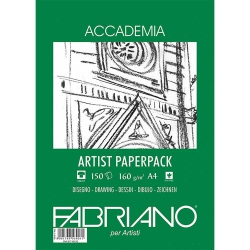 Fabriano Accademia Artists Paperpack Natural Grain 160gr A4 (21x29.7cm) 150 Sayfa