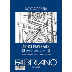 Fabriano Accademia Artists Paperpack Natural Grain 200gr A4 (21x29.7cm) 100 Sayfa