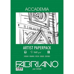 Fabriano Accademia Artists Paperpack Natural Grain 160gr