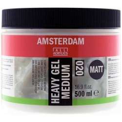 Amsterdam Heavy Gel Medium Matt 020 500ml (Mat Doku Jeli)