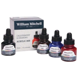William Mitchell Acrylic Inks 30ml 4'lü Set 1