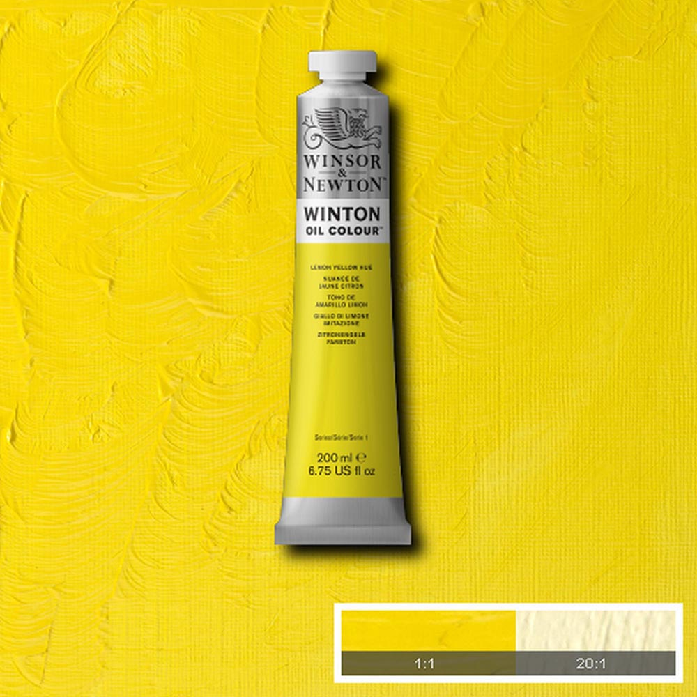 Winsor & Newton Winton Yağlı Boya 200ml Lemon Yellow Hue 346