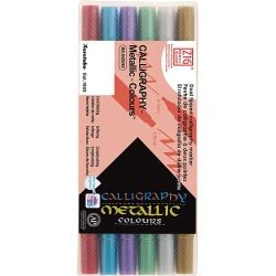 Zig Ms-8400 Calligraphy Pen Metallic 6'lı Set